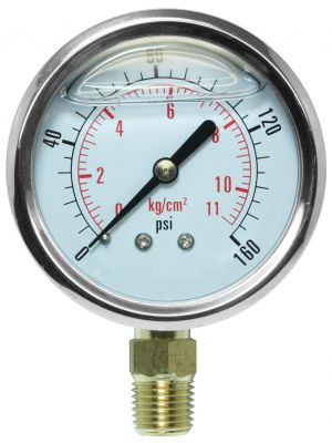 Glycerine Filled Pressure Gauge - 0-160 PSI